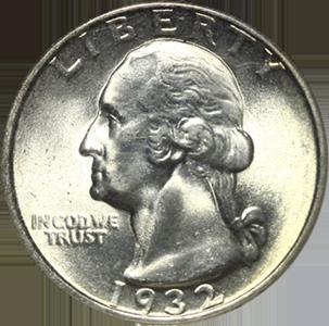 1932 Quarter Obverse