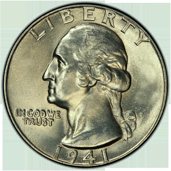 1941 Quarter Obverse