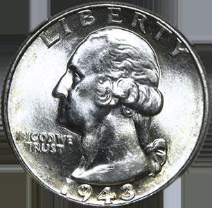 1943 Quarter Obverse