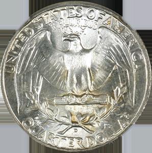 1944 Quarter Reverse