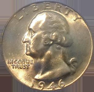 1946 Quarter Obverse
