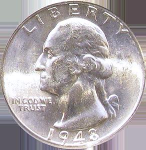 1948 Quarter Obverse