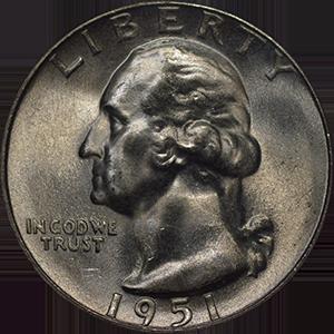 1951 Quarter Obverse