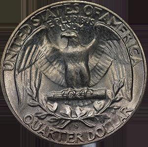 1951 Quarter Reverse