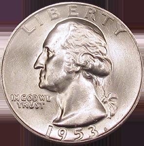 1953 Quarter Obverse