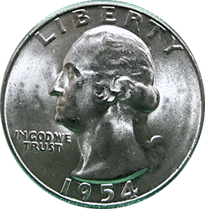 1954 Quarter Obverse