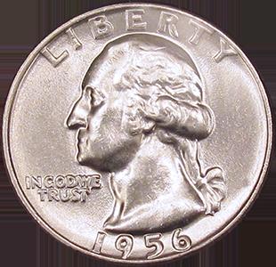 1956 Quarter Obverse
