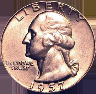 1957 Quarter Obverse