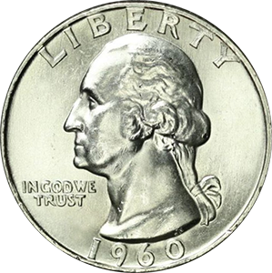 1960 Quarter Obverse