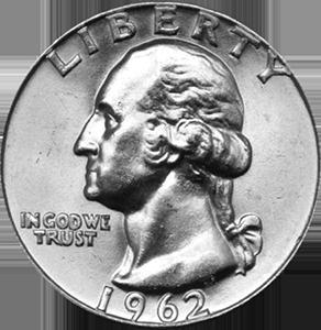 1962 Quarter Obverse