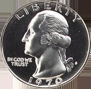 1970 Quarter Obverse