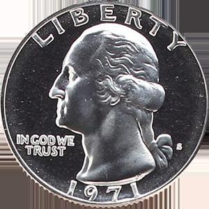 1971 Quarter Obverse