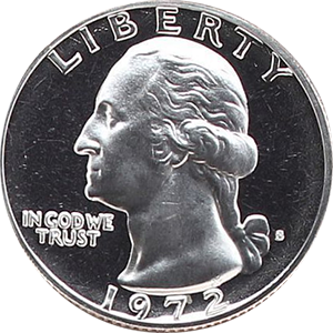 1972 Quarter Obverse