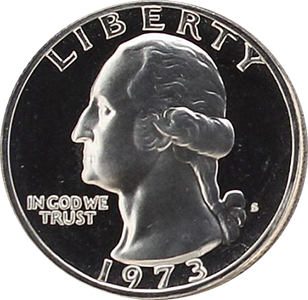 1973 Quarter Obverse