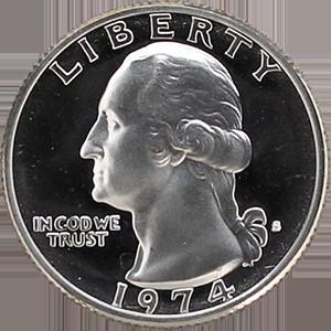 1974 Quarter Obverse