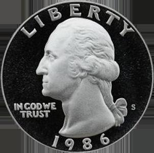 1986 Quarter Obverse